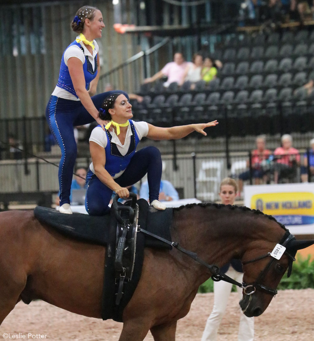 Kathryn Keville and Florence Rubinger of the U.S. 2018 WEG