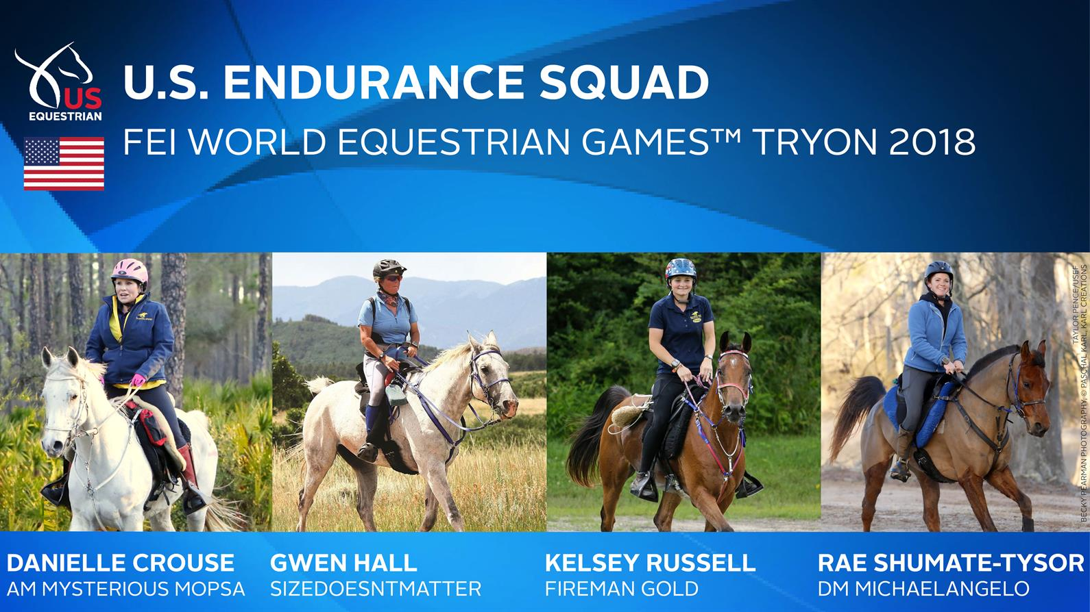 U.S. Endurance team for the 2018 WEG