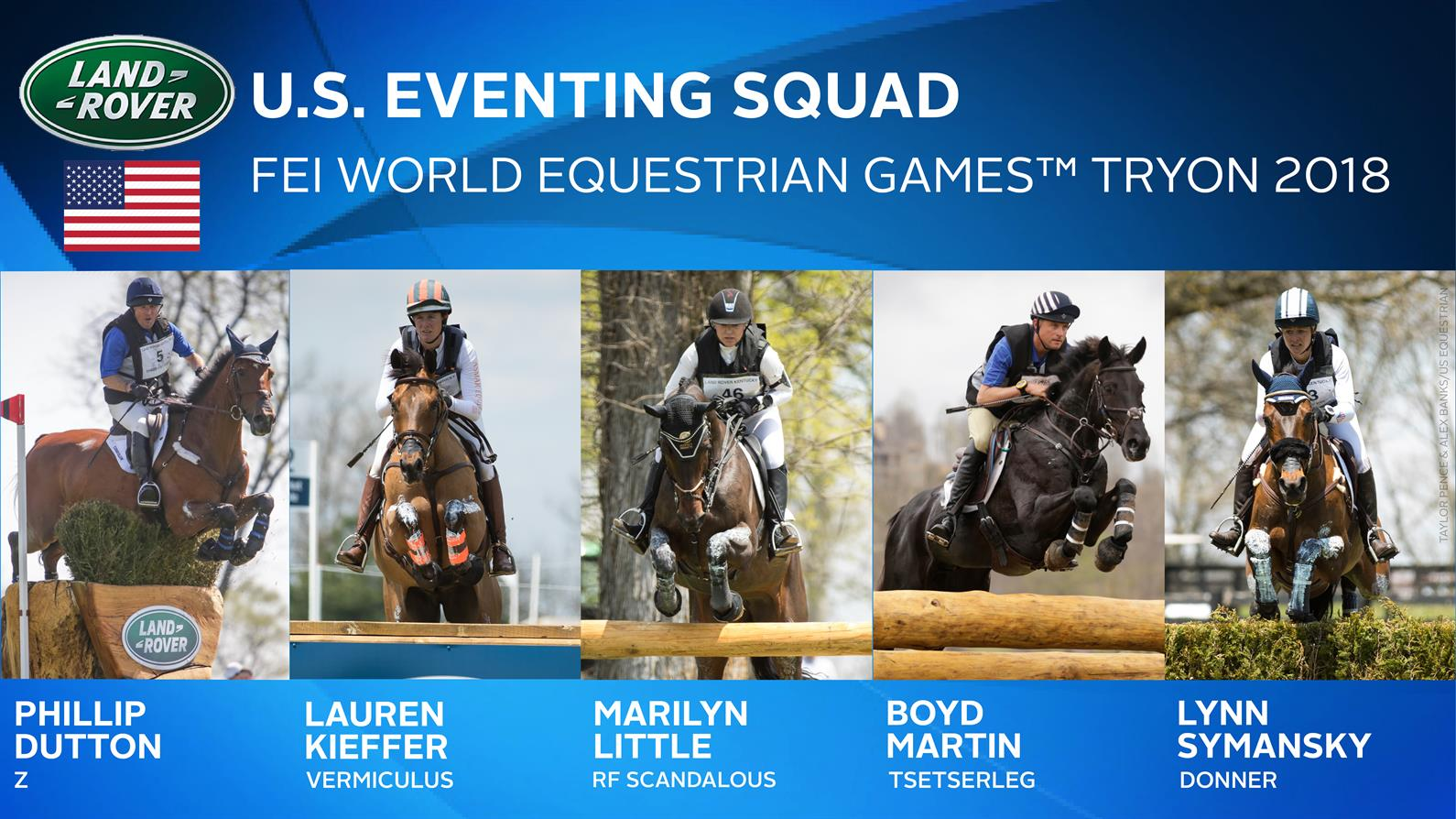 U.S. Eventing Team for WEG 2018