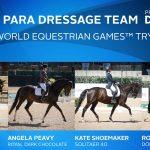 U.S. Para-Dressage Team for WEG 2018