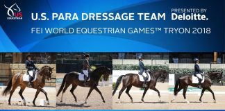 U.S. Para-Dressage Team for WEG 2018
