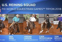 U.S. Reining Team for the 2018 WEG