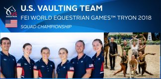 US Vaulting Team for 2018 WEG