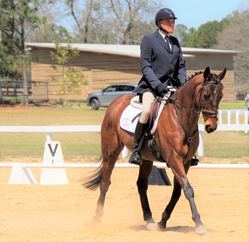 Denny Emerson riding dressage