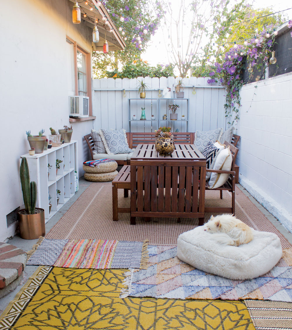 Raquel Lynn's patio in Los Angeles