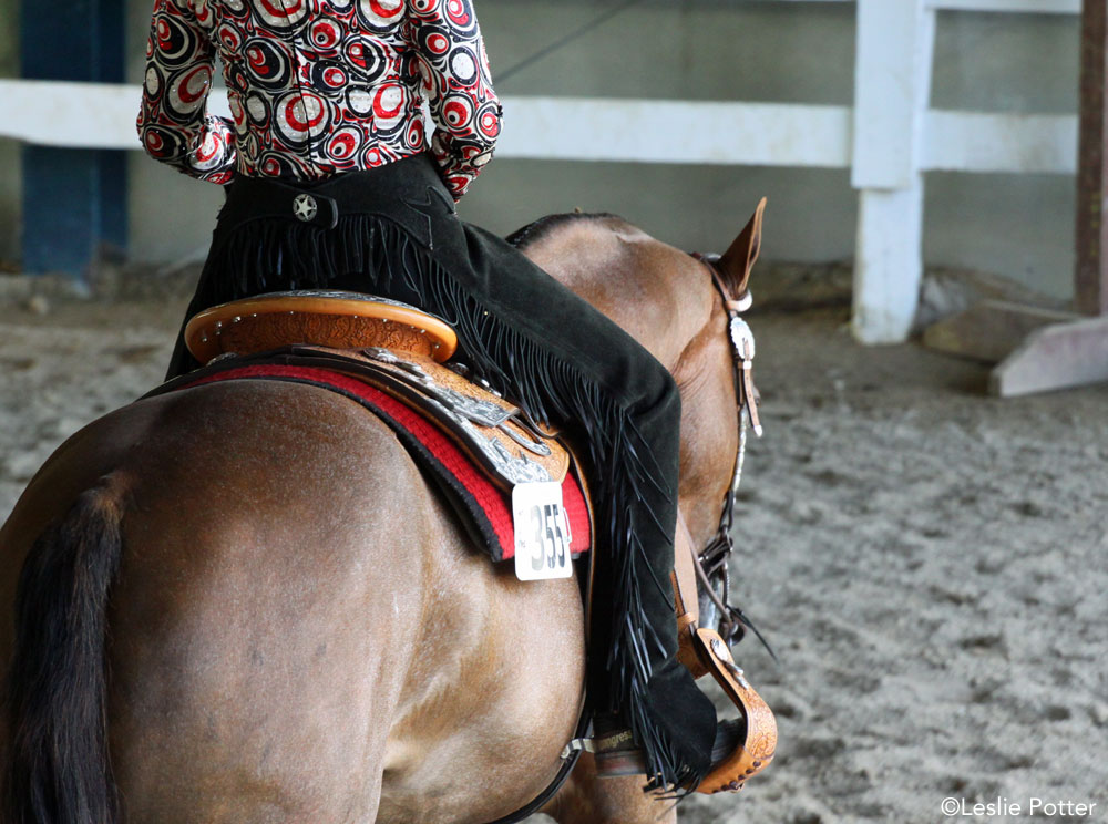 Western horse and rider at a horse show