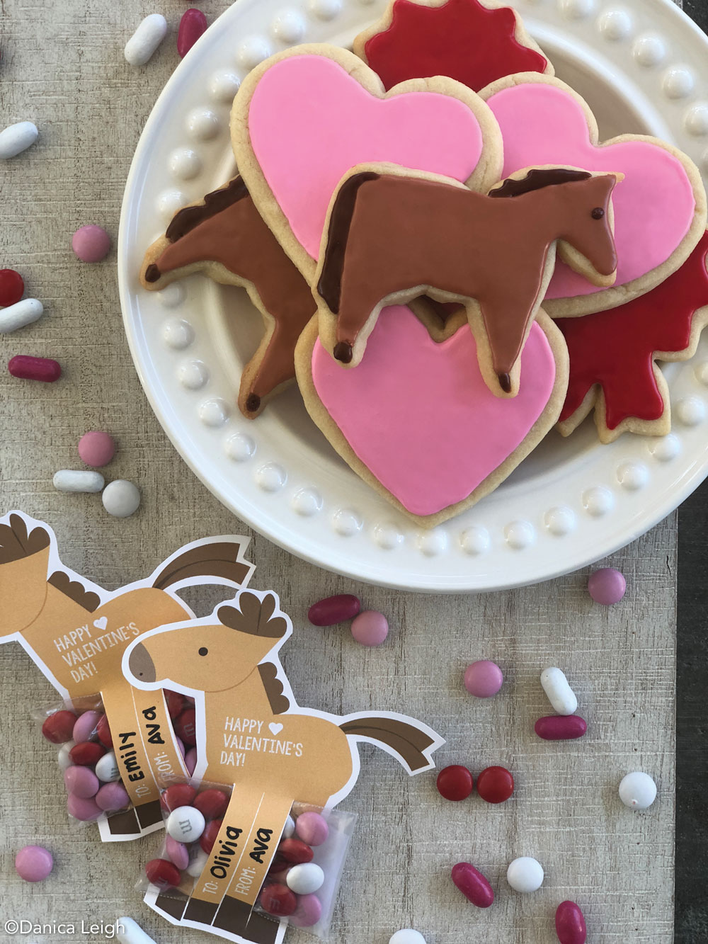 DIY Valentines and Valentine's Day cookies