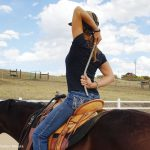 Modified Cow-Face Pose - Yoga with your horse