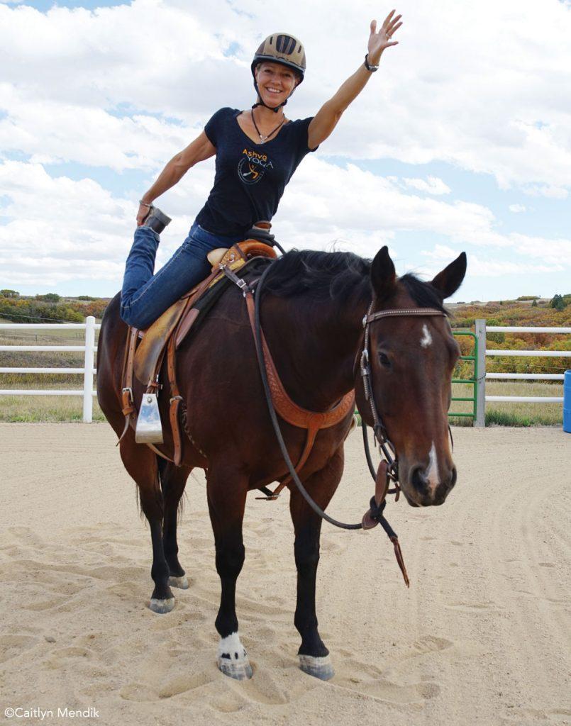Mounted Dancer Pose