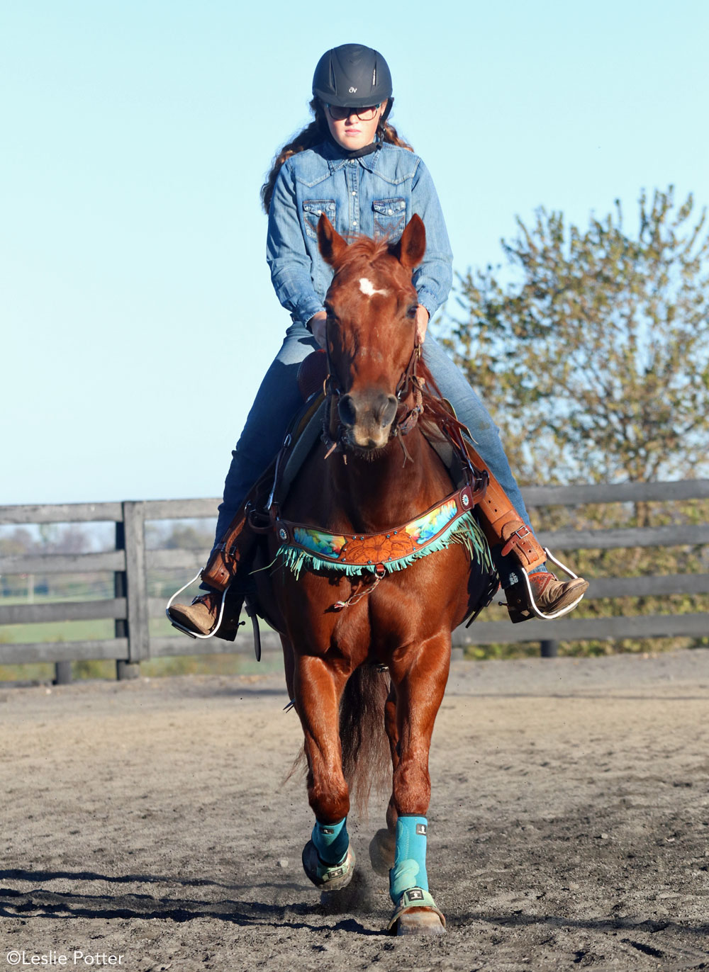 Staying centered in the saddle