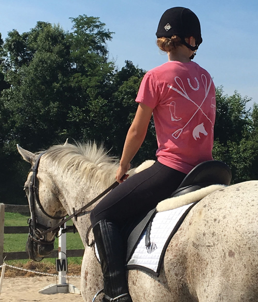 American Pony Outfitters logo T-shirt