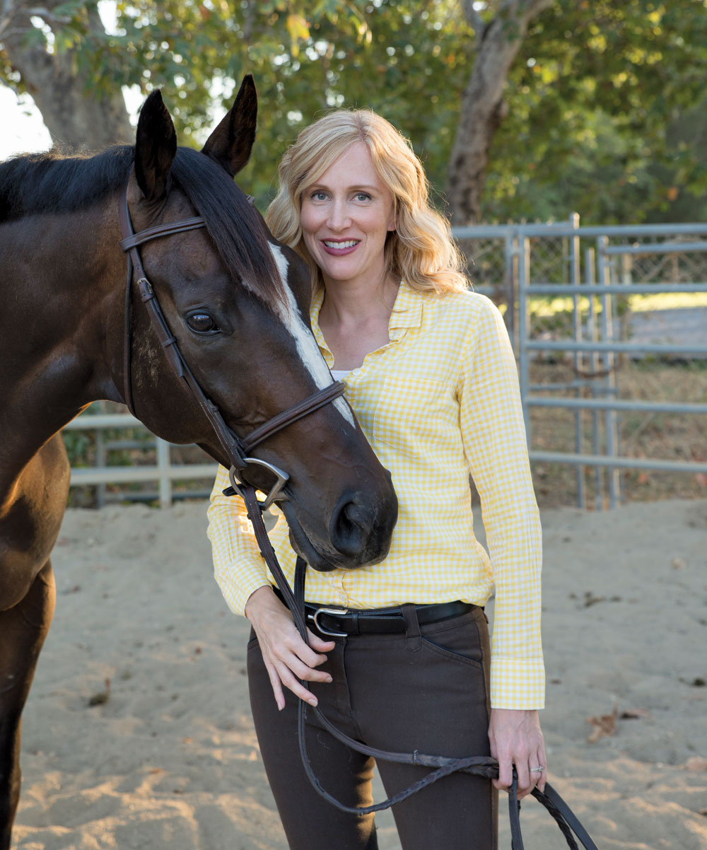 Author Susan Friedland-Smith with her horse, Knight