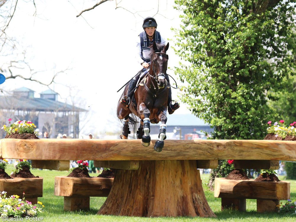 Elisa Wallace and Simply Priceless on the cross-country course at the Kentucky Three-Day Event