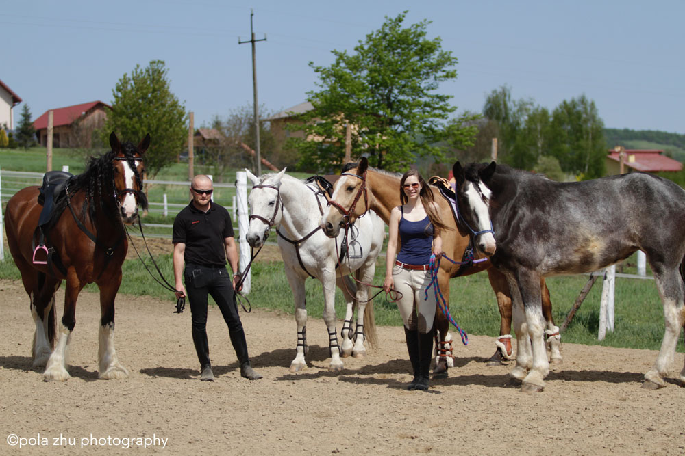 Kasia and Kamil with their horses