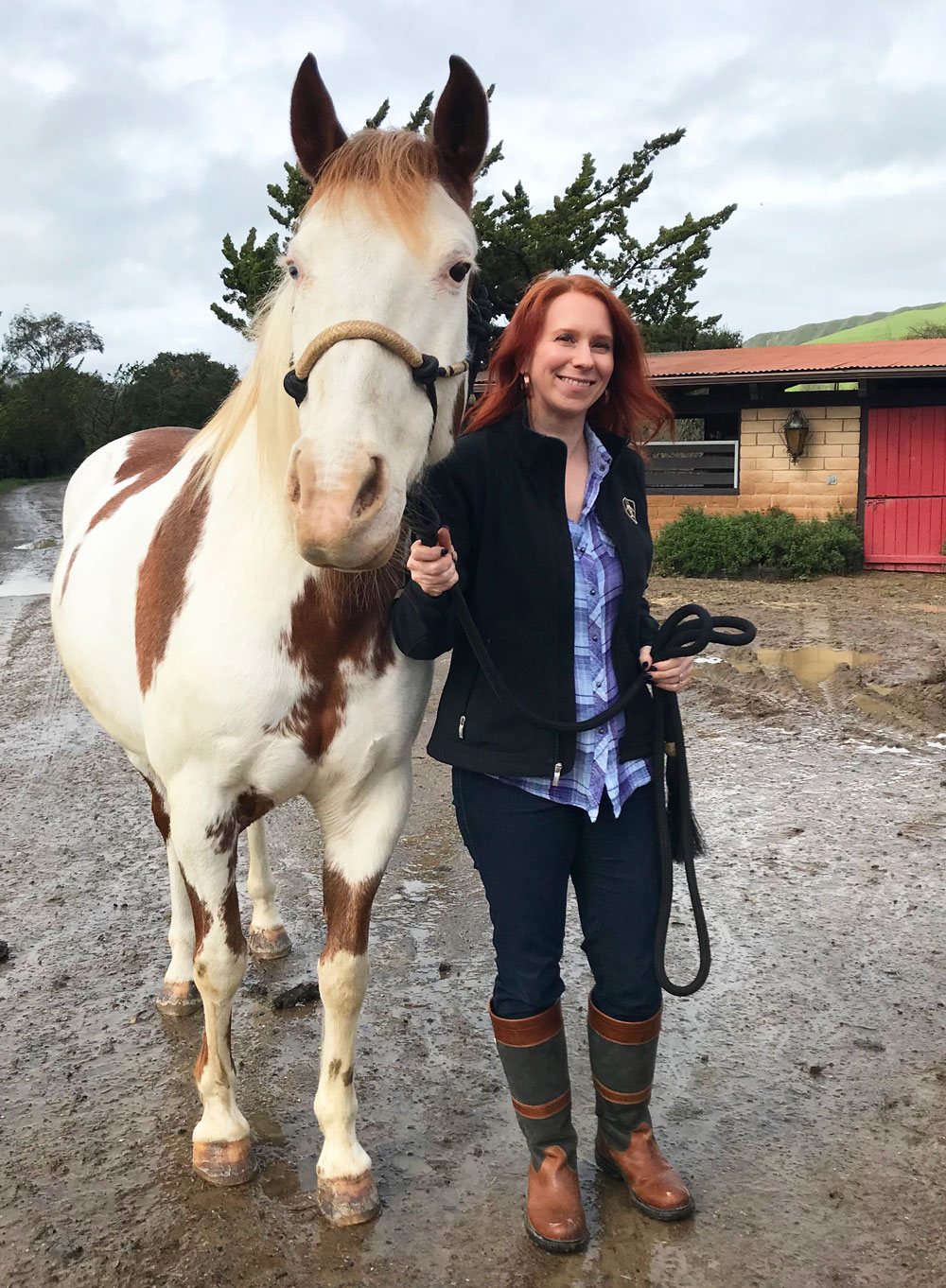 Holly and Isadora-Cruce, one of Return to Freedom's Spanish Mustangs, who has also been made into a Breyer model horse.