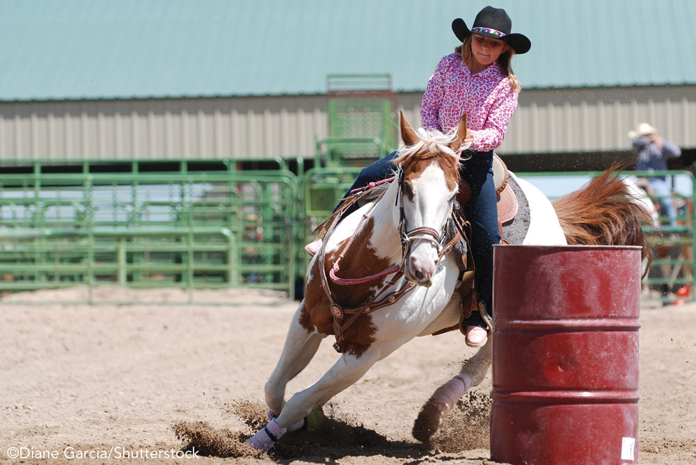 Young rider barrel racing