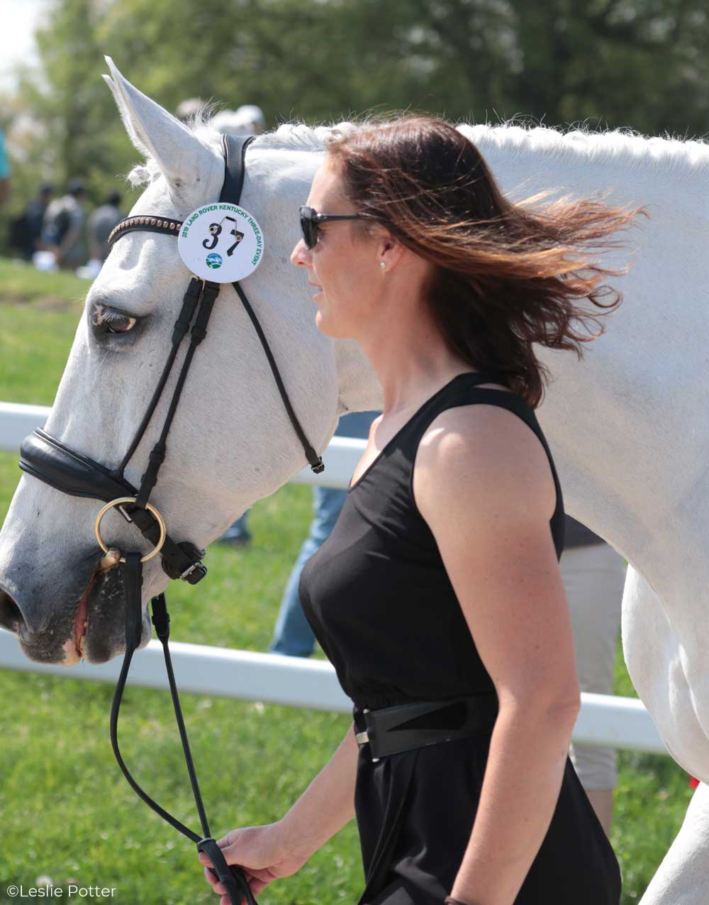 Colleen Loach (CAN) and Qorry Blue D'Argouges, a Selle Francais gelding