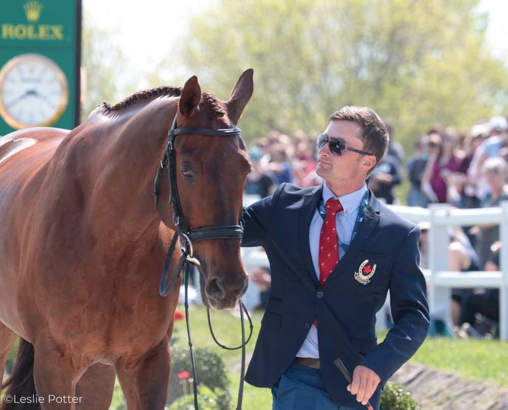 Waylon Roberts (CAN) and Lancasater, a Canadian Sport Horse gelding.