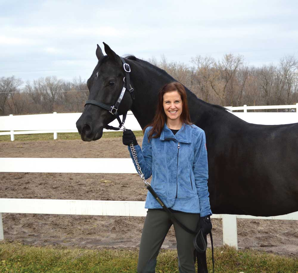 The author with her lesson horse