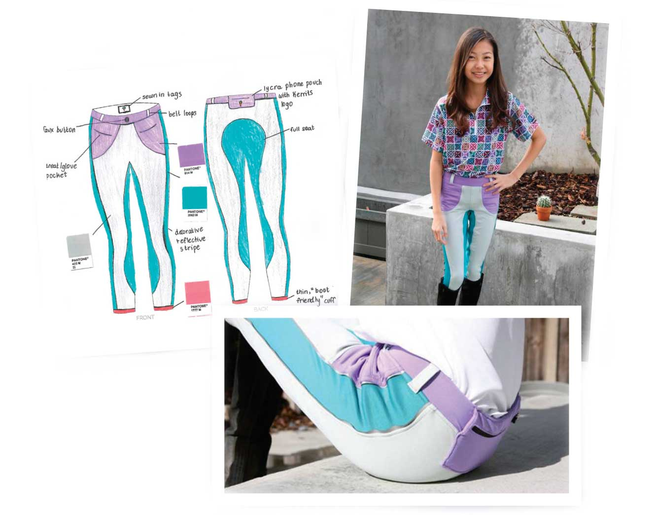 Mei's winning 2016 Kerrits Junior Designer Contest entry