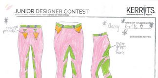 Daisy's winning Kerrits Junior Designer Contest entry