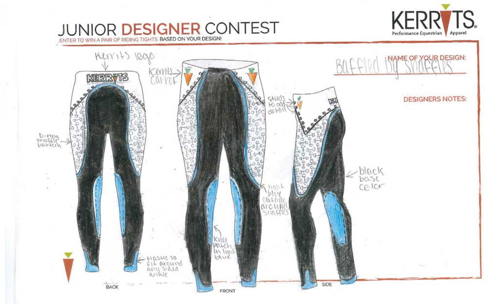 Lia's Kerrits Junior Designer entry