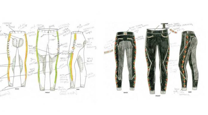 The winning designs from the 2018 Kerrits Jr. Designer Contest