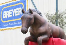 Fluffy, the inflatable BreyerFest horse