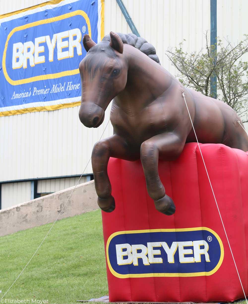 Fluffy, the inflatable BreyerFest horse