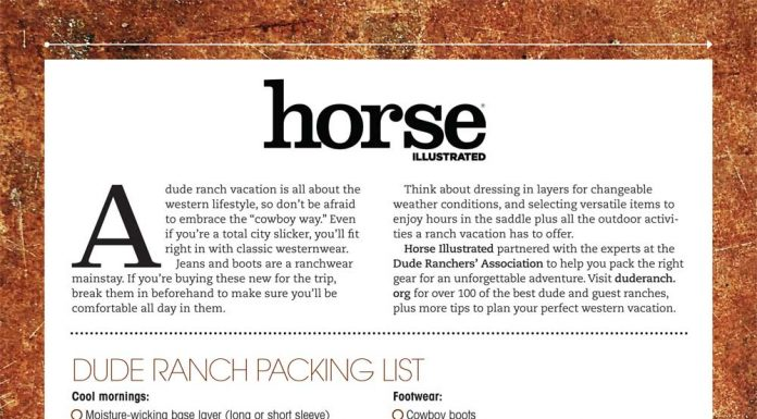 Dude Ranch Vacation Packing List