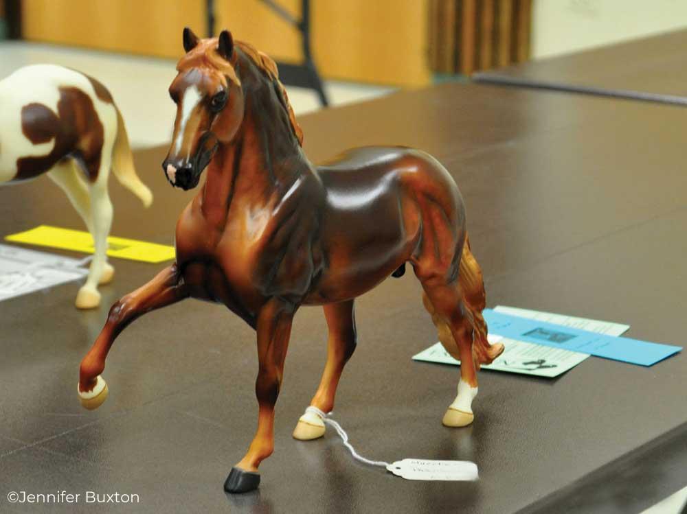 Breyer model horse at a model horse show