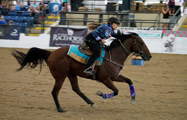 Fallon Taylor and Cowboy Swagger at the 2019 Thoroughbred Makeover