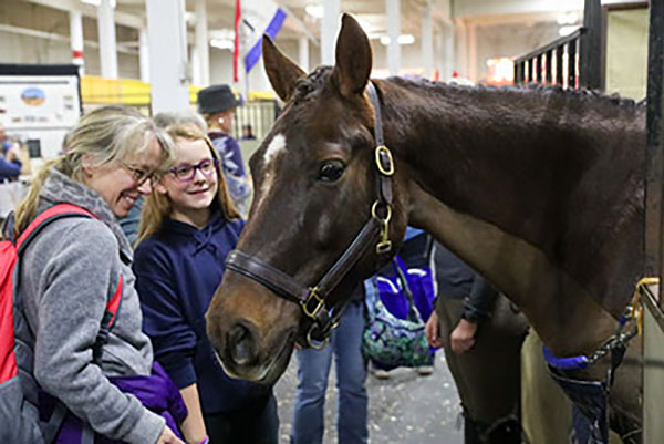 Two women with horse at Equine Affaire-2021 Equine Affaire tickets