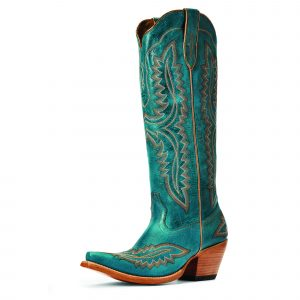 Tall and Green Cowboy Boots