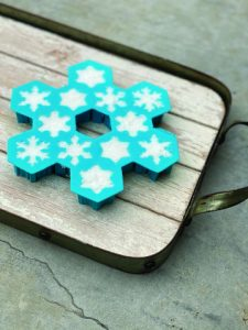Silicone mold for DIY horse sugar cubes.