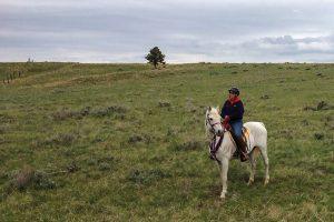 Horseback riding solo in Montana.