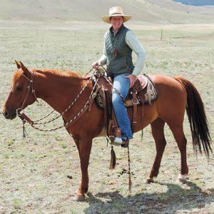 Natalie Allio horseback riding solo.