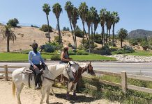 Horseback riders at Griffith Park.