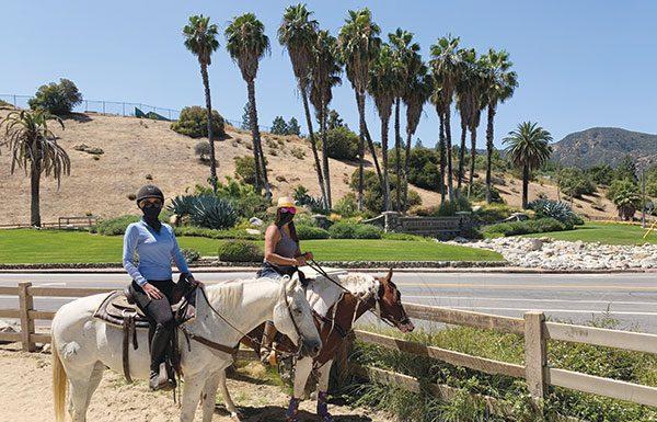 Horseback riders at Griffith Park.