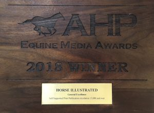 Horse Illustrated Award from American Horse Publications