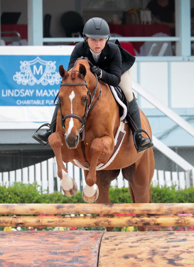 Alexa Lignelli and High Society at the Junior Hunter Championships