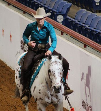Amy Elam and My Pops a Doc the Appaloosa World Championship Show