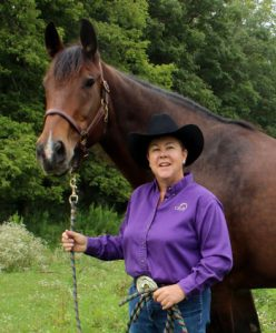 Beth Powers, the 2020 Certified Horsemanship Association Distinguished Service Award winner