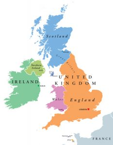 Map of the British Isles - British Native Ponies