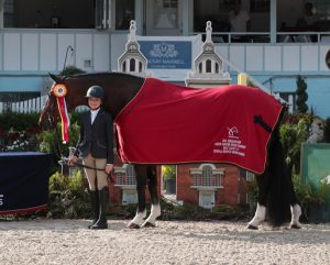 Campbell Brown and Fleetwood at the Junior Hunter Championships