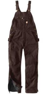 Carhartt Ladies Quilt Lined Washed Duck Bib Overall