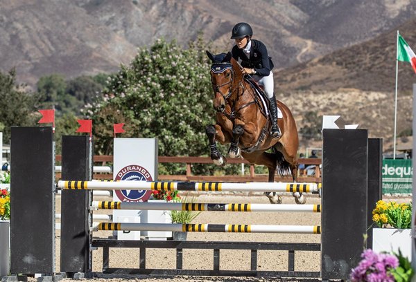 Charlotte Babbitt and 2 A.M., winners of the 2020 USEF National Young Rider Eventing Championships