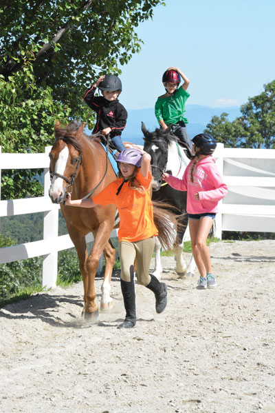 Riding Camp Lesson with Helpers