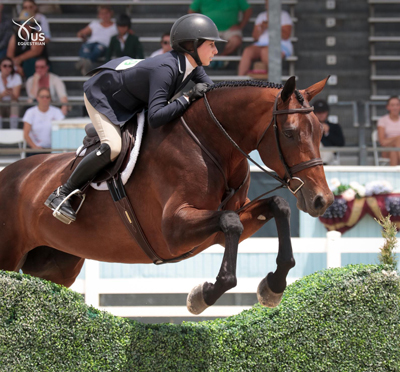 Clara Propp and Arabesque at the Adequan/USEF Junior Hunter National Championships - East