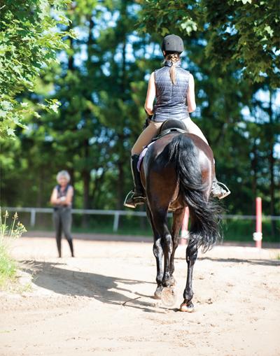 Rider riding away - Bolder Braver Brighter